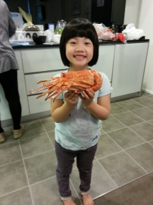 The girl and her lobster