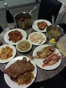 Our feasts cooked from ingredients from QVM