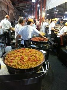 Paella at the night market